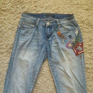 Rue21 Flower blue jeans